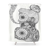 Society6 Exposed Shower Curtain