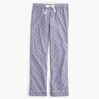 J.Crew Womens Cotton Textured-Dot Pant In Stripe