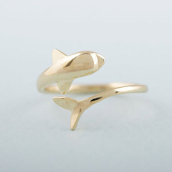 Dolphin Ring Dainty