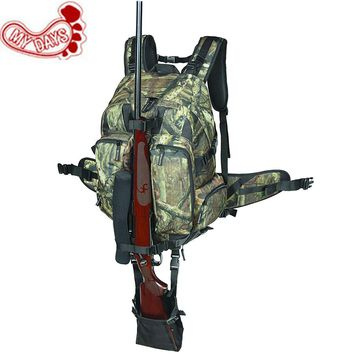 MY DAYS Camouflage Tactical Rifle Backpack Hunting Gun Bag Airsoft Paintball Shotgun Daypack with Integrated Gun Carry System