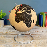 Pinpoint Your Travels on the Cork Globe | Colossal
