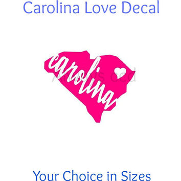 Vinyl South Carolina State Love Decal