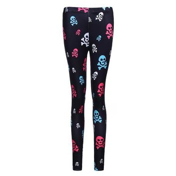 ESBON Hot Sales! 3D Print Leggings Women Skull Head Printed Leggings Workout Clothes For Women