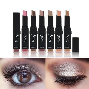 2 Colors Eye Shadow Stick Fashion Eyeshadow Cream Matte Eye Shadows Palette Maquillage Eye Shadow Eyes Maquiagem