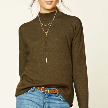 Contemporary High Neck Sweater