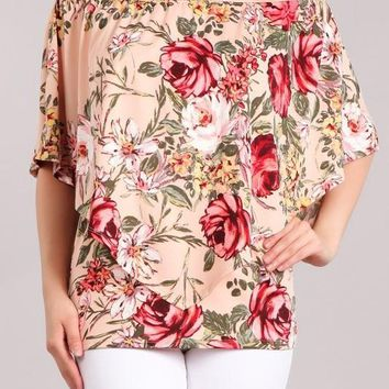 Floral 4 Way Convertible Top