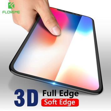 FLOVEME 3D 9H Film Full Cover Screen Protector For iPhone X Tempered Glass For iPhone X 10 Screen Protector
