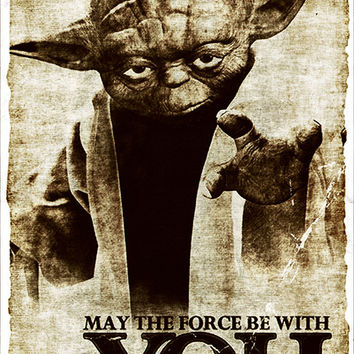 Star Wars Yoda May The Force Be With You Poster