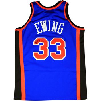 Patrick Ewing Signed Autographed New York Knicks Basketball Jersey (Steiner COA)