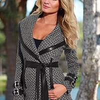 Wrap Belted Coat