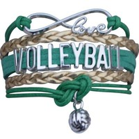 Volleyball Infinity Bracelet - Green