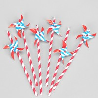 Pinwheel Straws-- Set Of 6 - Urban Outfitters