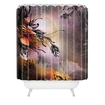 Iveta Abolina Purple Rain Shower Curtain