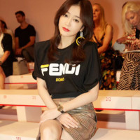 Fendi Hot letters print T-shirt top