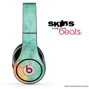 Vintage Green & Orange Skin for the Beats by Dre