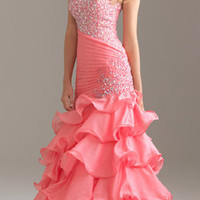 fabulous mermaid gown beading prom dress evening party ball size 6 8 10 12 14 16
