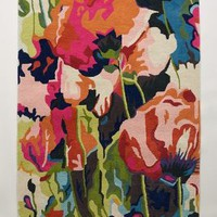 Brilliant Poppies Rug by Anthropologie in Multi Size: