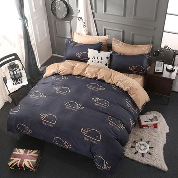 3/4pcs Classic Cotton bedding set bed linens duvet cover set Pastoral bed sheet pillowcase King Queen size bedspread bedclothes