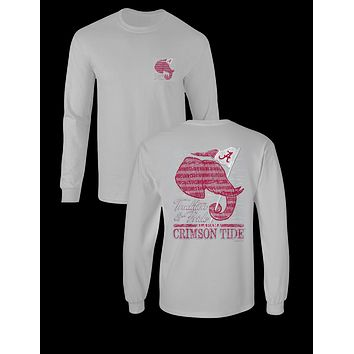 Sassy Frass University of Alabama Crimson Tide Tradition & Pride Long Sleeve Girlie Bright T Shirt