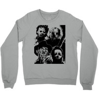 halloween horror nights freddy krueger jason voorhees leatherface mich Crewneck Sweatshirt