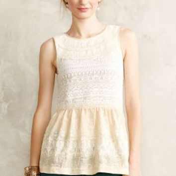 Skirted Jacquard Tank by one.september Ivory