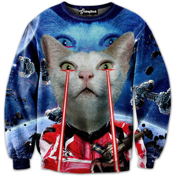 Space Invasion Kitty Crewneck