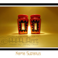 Kama Sutranus - Original Hand Painted Jars, Cinnamon Canister, Clove Jar, Decorative glass Art, SET OF 2