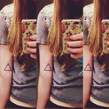Temporary Tattoo- triangle