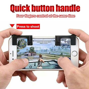 2pcs Mobile Phone Game Physical Joysticks Game Controller Shooting Games Accessories for PUBG STG FPS TPS Game Button