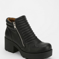 Deena & Ozzy Quilted Cutoff Moto Boot - Urban Outfitters