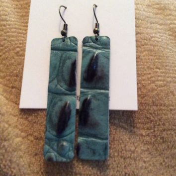 Fde1300 Handmade Leather Earrings