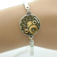TAFREE Brand Fashion steampunk Cat bracelet