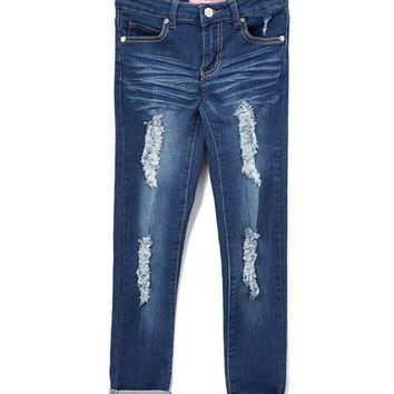 Cutie Patootie Medium Distressed Wide-Cuff Jeans - Girls