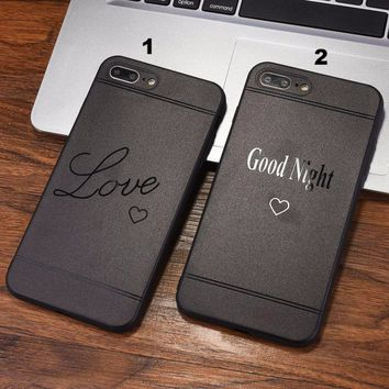 Fashion Love letter mobile phone case for iPhone X 7 7plus 8 8plus iPhone6 6s plus -171211