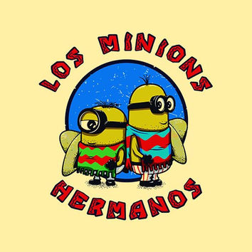 Los Minions Hermanos Adult Tee Shirt
