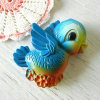 Vintage Chalkware Bluebird Figurine from Miller Studio circa 1970 Blue Bird