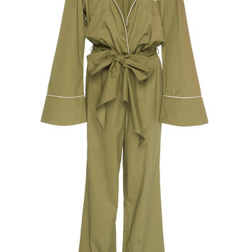 Yerba Bow-Detailed Cotton-Poplin Jumpsuit | Moda Operandi