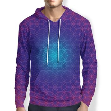 Psychedelic Hoodies Trippy Visionary Artwork Rainbow Mandala Chakra Art Sublimation Print Hoodies Men Plus Size 4XL