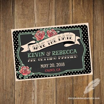Rockabilly Wedding Save The Date