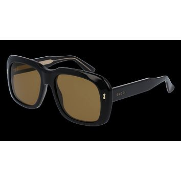 Gucci - GG0049S-001 Black Sunglasses / Brown  Lenses