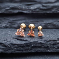cartilage earring tragus earring 16g cartilage piercing tragus piercing triple helix earring forward helix conch earring triangle gold