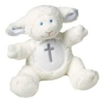 Christening Lamb with Rattle