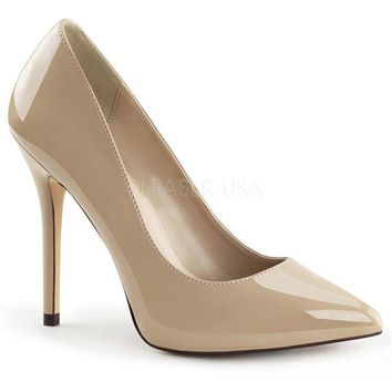 Cream Pointy Slip-On Pumps