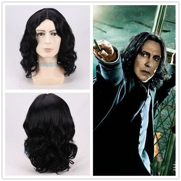 Movie Harry Potter Dark Brown Short Synthetic Hair Wig Cosplay wig Halloween Role Play Potter Hair