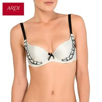 Woman's Bra With A Molded Foam Cups On Frames Satin