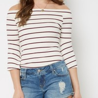 Striped Off-Shoulder Shirt By Sadie Robertson X Wild Blue | Shirts | rue21