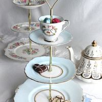 3 tier cake stand/pedestal vintage Colclough by NancysTeaShop