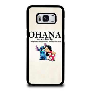 LILO AND STITCH OHANA FAMILY Disney Samsung Galaxy S3 S4 S5 S6 S7 Edge S8 Plus, Note 3 4 5 8 Case Cover