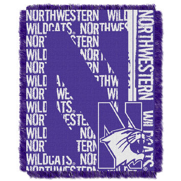 Northwestern College 48x60 Triple Woven Jacquard Throw - Double Play Series