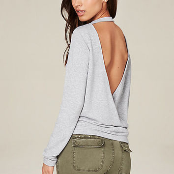 OPEN BACK SURPLICE TOP